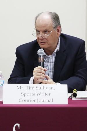 Tim Sullivan sports writer Louisville Courier Journal  who recently wrote a article about the non scholarship players at Simmons College of Louisville