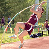 Emily Morin of THS, winner of the girls pole vault at the Times News relays. Photo by Ned Jilton II