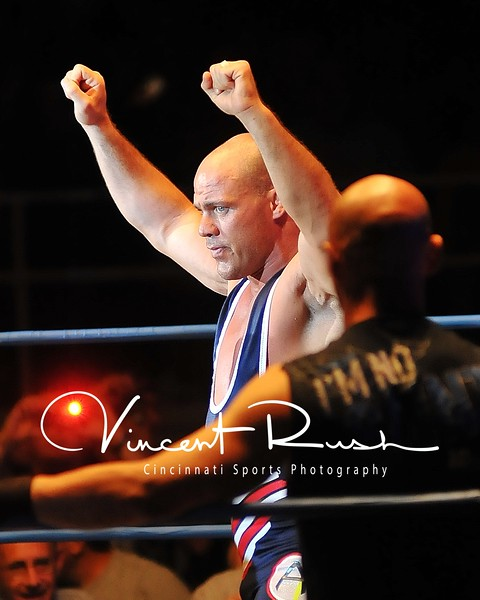 TNA Impact Wrestling from Hara Arena in Dayton, Ohio. Total Non Stop Action Professional Wrestling. TNA Photos by Dayton Sports Photographer Vincent Rush of Cincinnati Sports Photography. Kurt Angle