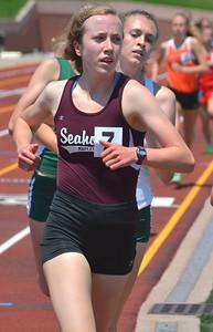 Seaholm's Rachel DaDamio placed second in the Emerging Elite 800-meter run.