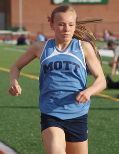 Alexis Munley was best of all the freshmen in the mile run, where she took the victory.