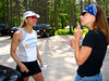 Beth gives Christine a few pointers on her upcoming Kettle Moraine 100.  It will be Christine's first 100-miler.