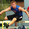 Winner in the boys 110 meter hurdles at the Times News Relays. Photo by Ned Jilton II