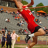 Daniel Boone's Christian Stumpf in the boys high jump at the Times News Relays. Photo by Ned Jilton II