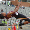 TN High's Sam Gudger in the girls high jump at the Times News Relays. Photo by Ned Jilton II
