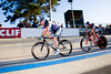 Stan Terusaki follows Michael Hutchinson after lapping the field in the Masters Scratch Race.