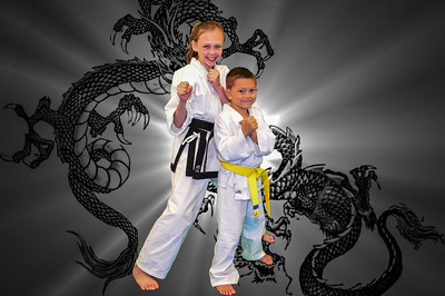 kids bw dragon