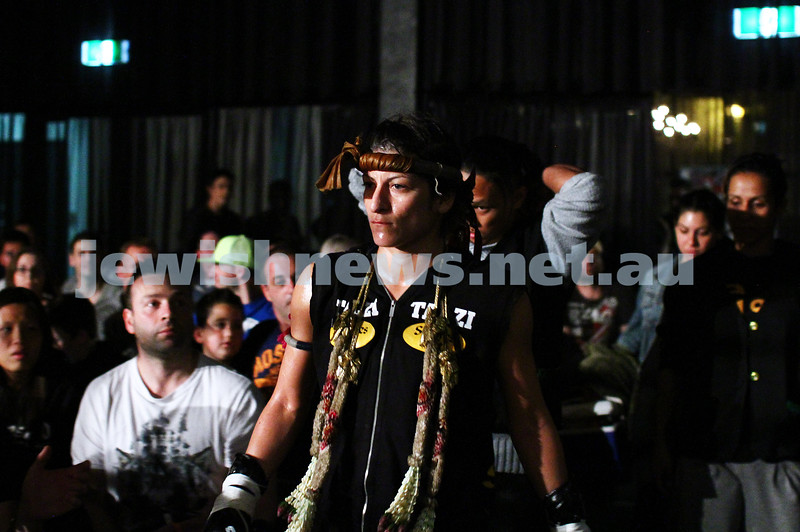 5-10-13. Road to Rebellion 2. Muay Thai boxing at Power House, Albert Park. Tali Silberman v Claire Foreman. Foreman defeats Silberman in unamimous points decision. Photo: Peter Haskin
