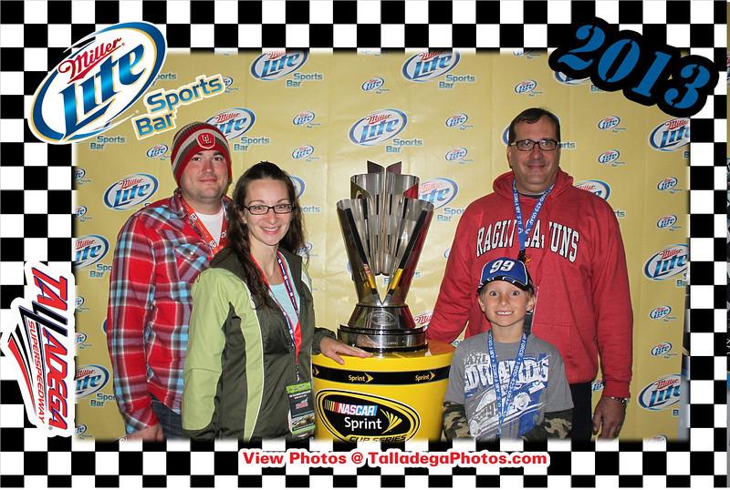 Miller Lite Sprint Cup Trophy Photo Station