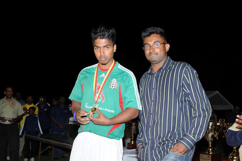 "MVP  of the Tournament -  Team member  "" Eelam Rangers - Montreal"""