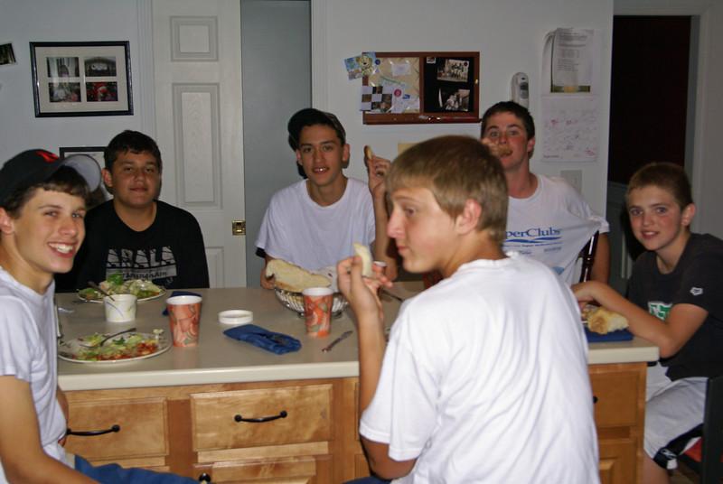 Millis Freshaman highschool football dinner...4 and 0 baby!