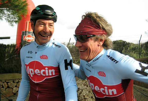 Erik and Sergej having a laugh before the start.