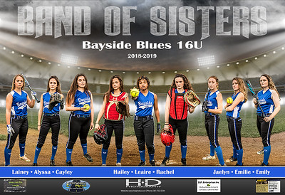 Bayside Blues 13x19 Poster with Sponsors