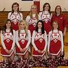 Cheerleaders<br /> Back Row: Brittany Sandmeier, Karli Rothschiller, Hannah Strube, Coach Rudie Peters<br /> Front Row: Ali Buechler, Samantha Long, Viktoria Marquardt, Kaitlin Kelly
