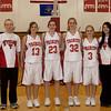 Girls BB Seniors<br /> Chris Steckler, Libby Forster, Danielle O'Donnell, Ashley Sickler, Kendra Kovash, Kaylie Ficek
