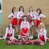 Cheer Leaders.jpg<br /> Back Row:  Brittany Sandmeier, Hannah Strube, Bethany Kiedrowski, Ali Buechler<br /> Front Row: Kaitlin Kelly, Viktoria Marquardt, Karli Rothschiller