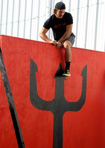 WOD 1 -Buy in cargo net climb, max double-Unders  -7 ft wall climbs -tire flips -155 lb snatch