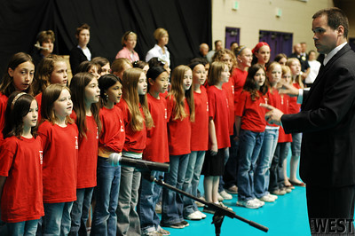 Portland's French-American school sings the national anthems