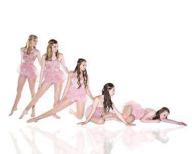 pink laying