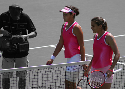 Ivanovic & Mauresmo - after the match