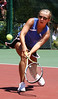 Gate City First Singles player Tori Bowen faces off Andi Kilgore at UVA-Wise on Tuesday. Photo by Erica Yoon