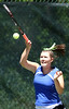 Gate City Third Singles player Alex Fritz plays against Hannah Barnette in a match at UVA-Wise Tuesday. Photo by Erica Yoon