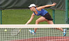 Gate City Taylor Evans gets to ball at last second during doubles match against Wise Central at the Region D tennis finals at UVA-Wise. Photo by Ned Jilton II