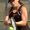 Science Hill's Katie Deal in action against D-B's Josie Rogers. Photo by Ned Jlton II