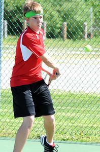 Eli Thompson of Elyria tennis May 4.  Steve Manheim