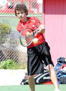 Jordan Melendez of Elyria tennis May 4.  Steve Manheim