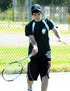 Dillon Zagrans of Elyria Catholic tennis May 4.  Steve Manheim