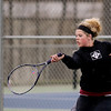 Record-Eagle/Keith King<br /> TC Christian's Abby Voorheis competes at number one singles against Manistee Tuesday, April 10, 2012 at TC Christian.