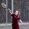 Record-Eagle/Keith King<br /> TC Christian's Lanae Hanna competes at number two singles against Manistee Tuesday, April 10, 2012 at TC Christian.