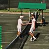 Ilan Shvartz (Stony Brook) and Derec Di Fazio,  NCAA men exhibition, Old Field Club Tennis, Stony  rook, NY