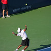 Donald Young serving