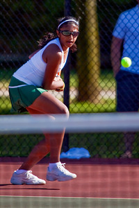 Dublin Coffman High School's Ashwatha Thenappan in action while playing against Bexley High School's tennis team Wednesday afternoon September 2, 2009 at Dublin Coffman High School. (Photo by James D. DeCamp 614-462-8027)
