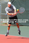 24 March 2012: Davidson men's tennis takes on Winthrop in non-conference play at Covington Tennis Courts in Davidson, North Carolina.
