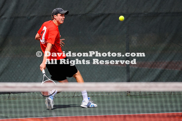 NCAA TENNIS:  APR 07 UNC Greensboro at Davidson