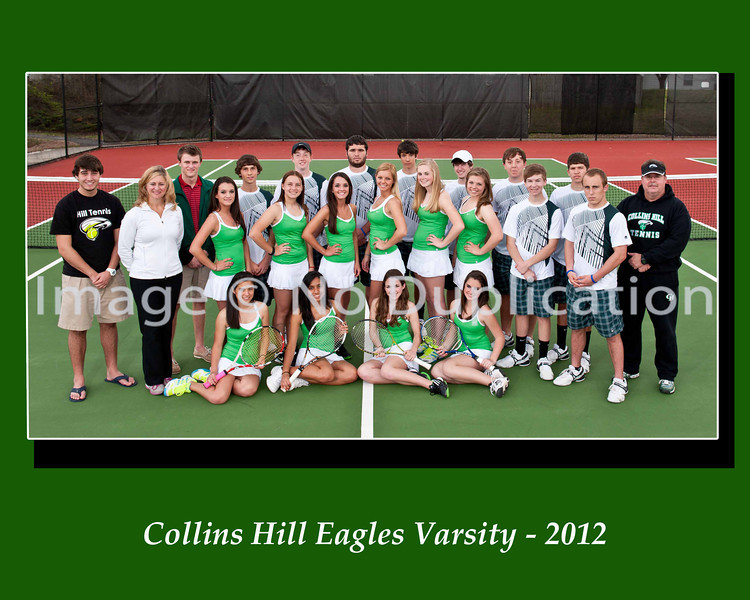 8 x10 Collins Hill Tennis Boys &  Girls Varsity