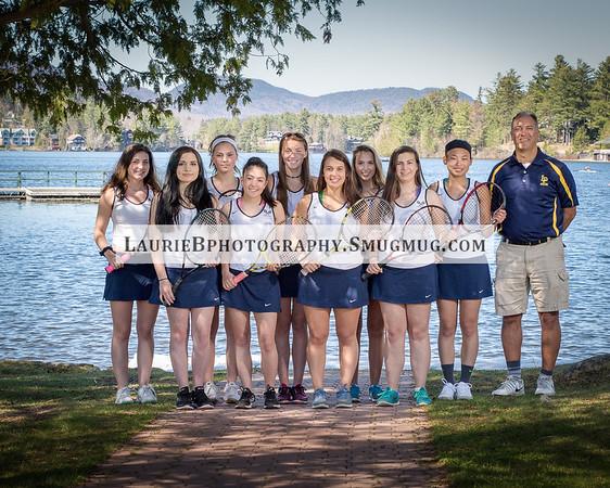 2017-2018 Girls Tennis Team - Lake Placid