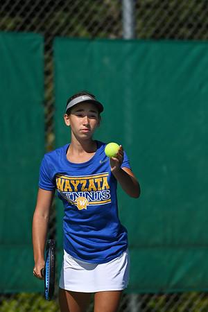 2019 Wayzata Girls Varsity Tennis vs. Hopkins