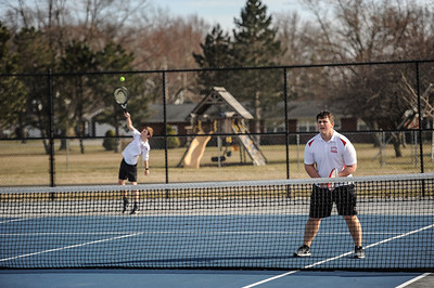 3-27-19 Bluffton HS Boys tennis vs Elida (Eden Nygaard and Grant Klinger 10th grade)-18