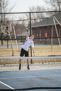 3-27-19 Bluffton HS Boys tennis vs Elida (Eden Nygaard and Grant Klinger 10th grade)-6