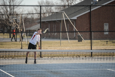 3-27-19 Bluffton HS Boys tennis vs Elida (Eden Nygaard and Grant Klinger 10th grade)-1