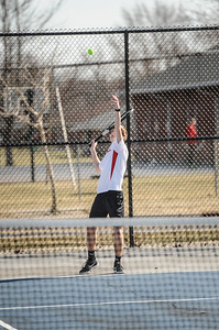 3-27-19 Bluffton HS Boys tennis vs Elida (Eden Nygaard and Grant Klinger 10th grade)-5