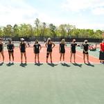 NCAA WOMENS TENNIS:  APR 11 Appalachian State at Davidson