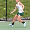 Nashoba's Kelly Poole chases down the ball along the baseline. SENTINEL & ENTERPRISE / SCOTT LAPRADE