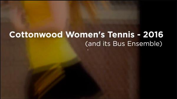 Cottonwood Women's Tennis: 2016