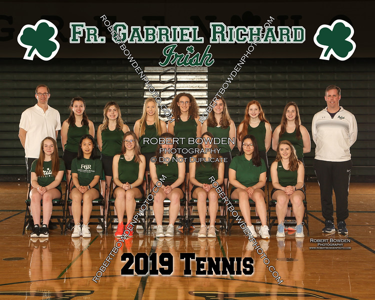 2019 FGR Womens Tennis Team 8x10