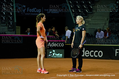 Fed Cup - World Group Play-Off - Romania vs. Germany - Workouts - Day IV